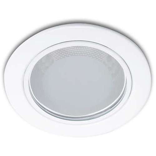 13804 Glass recessed white 1x18W 230V