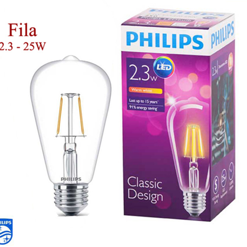 LED Fila 2.3-25W E27 WW ST64 ND 1CT APR